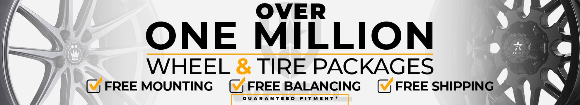 Over 1 million wheel & tire packages